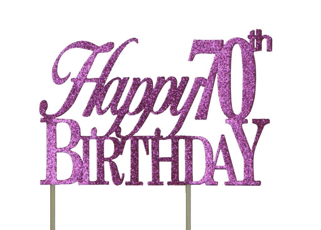Happy 70th Birthday Cake Topper Cargando Zoom
