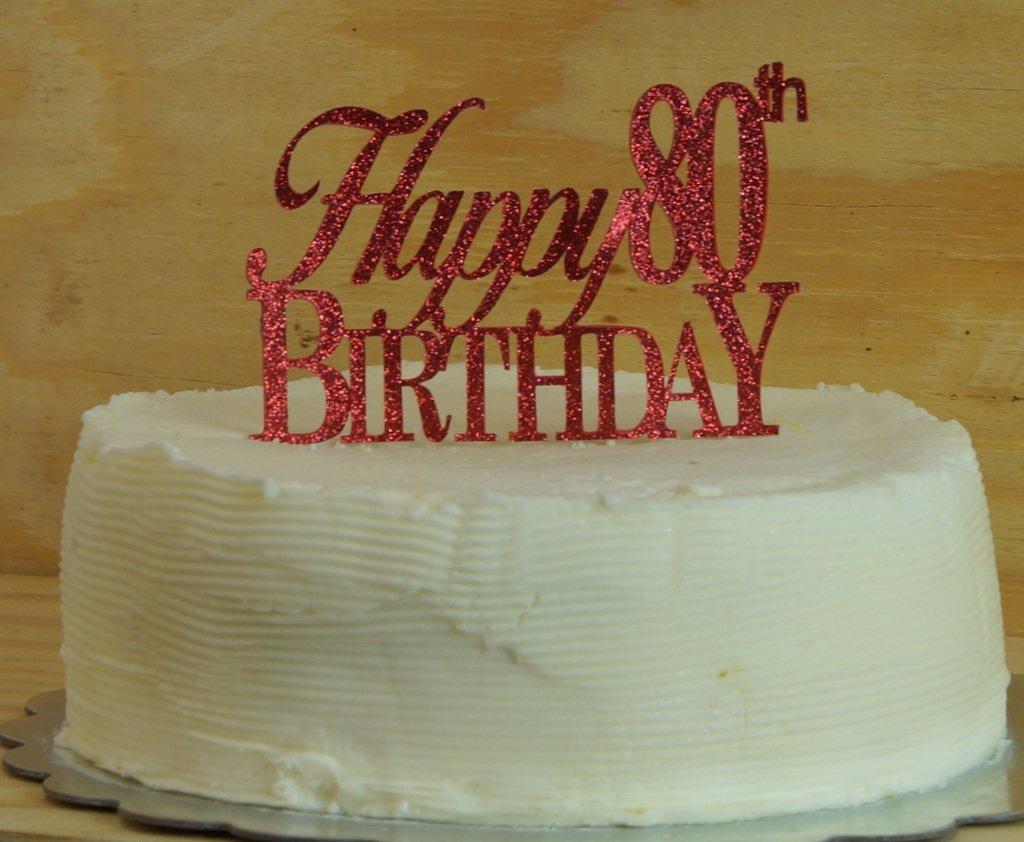 Happy 80th Birthday Cake Topper Cargando Zoom