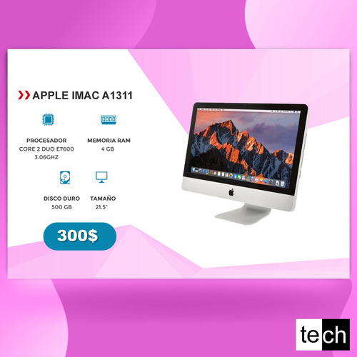 all in one//apple// imac //seminuevas/ core2, i5/ desde $300