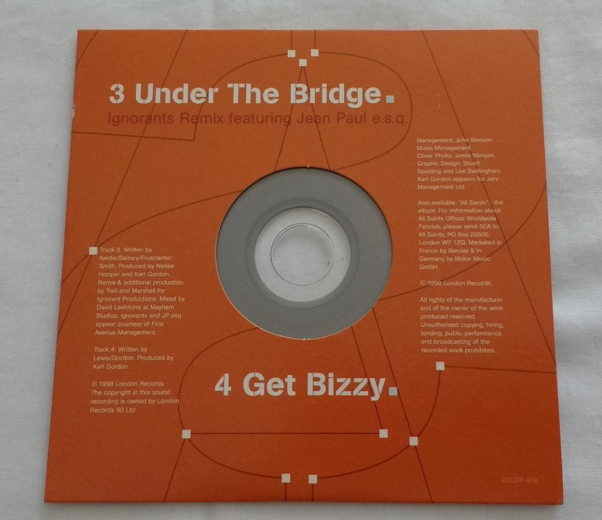 All Saints Lady Marmalade/ Under The Bridge Single C/poster - $ 180 00
