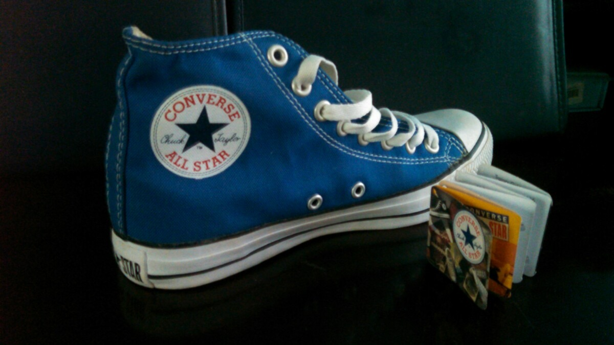 77963a486a4ec All Star Azul Novo Feito Na Década Passada
