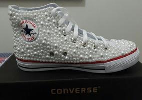 5939d4c9fe2 Tenis Noiva Personalizado All Star Casamento Converse - Tênis ...