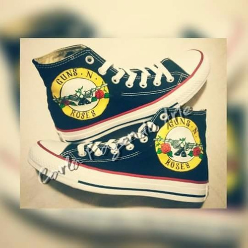 all star converse guns n´ roses personalizado