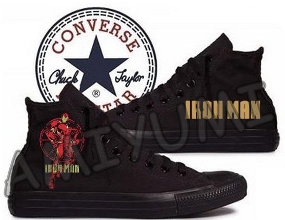 387d6cbbbc6c2 All Star Homem De Ferro Tênis Converse Monochrome Unissex - R  268 ...