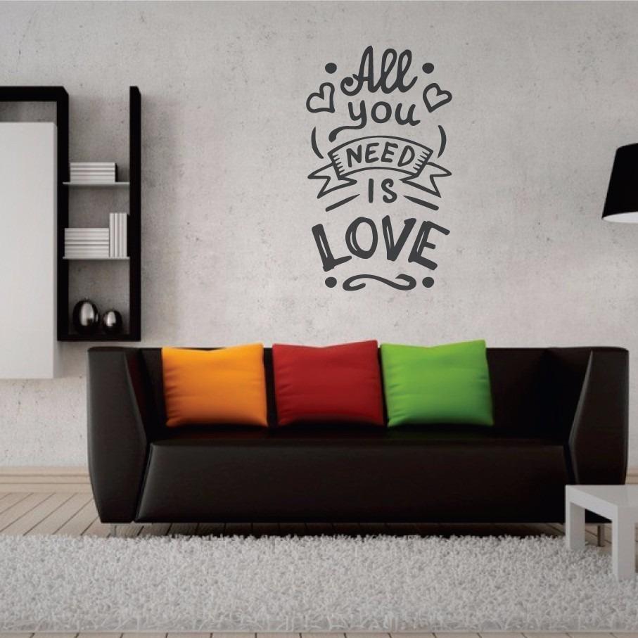 Vinilos Pared Vintage.All You Need Is Love 55x95cm Vinilos De Pared Vintage Style