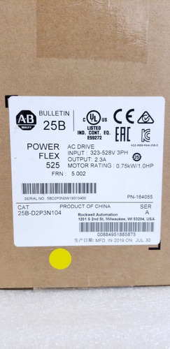 allen bradley 25b-d2p3n104 power flex variador de voltaje