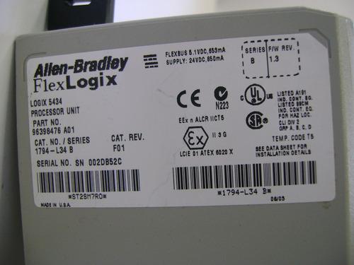 allen bradley flexlogix cpu 1794-l34 logix5434