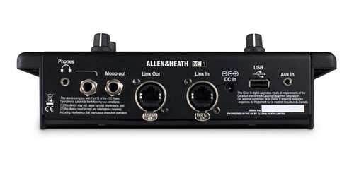 allen & heath me-1 consola de mezcla p/ monitoreo personal