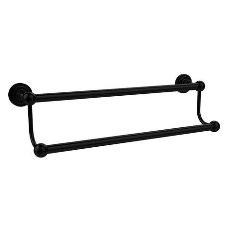 allied latón 18 -inch doble toalla bar mate negro