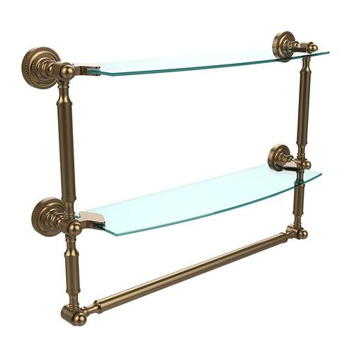 allied latón 18 -inch x5-inch estante w / toalla bar cepill