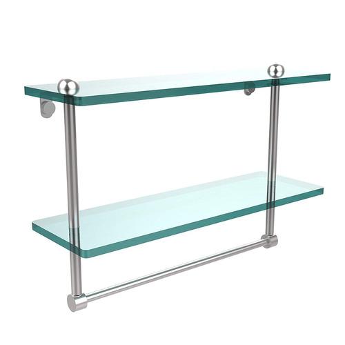 allied latón rc -2 / 16tb- sch estante vidrio doble 16 pulg