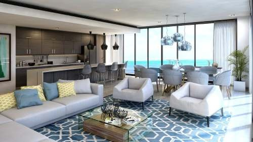 allure en puerto cancún. condominio de lujo con vista al  mar. penthouse 4. preventa