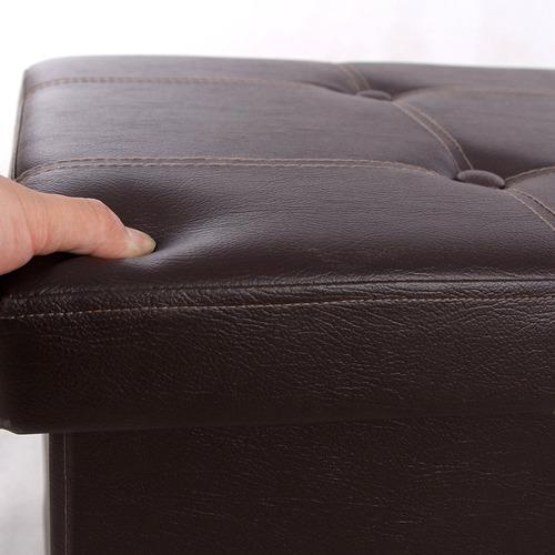 Lujoso Muebles De Cuero Blanco Banco De Almacenamiento Foto ...