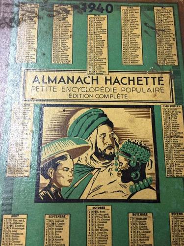 almanach hachette. 1940