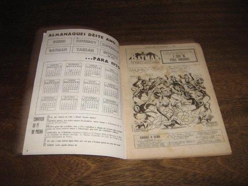 almanaque batman ano:1970 com 100 páginas editora ebal