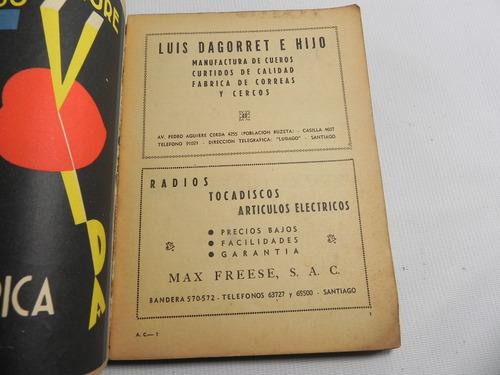 almanaque caja nacional ahorros chile 1949