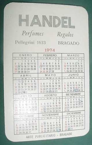 Calendario 1974.Almanaque Calendario Bolsillo Ano 1974 Paisaje Argentino 3 60 00