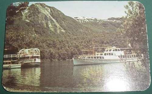 almanaque calendario bolsillo año 1986 barcazas rio montaña
