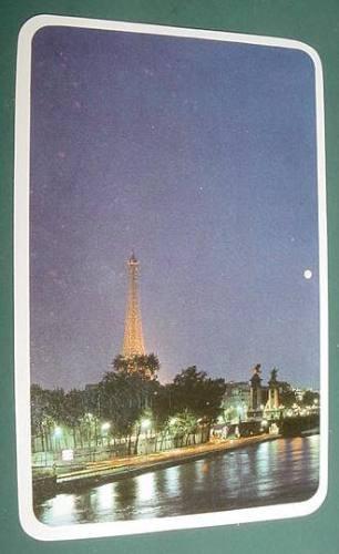 almanaque calendario bolsillo año 1988 torre eiffel
