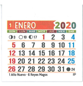 Calendario 2020 Maxim.Almanaque Calendario Color 2020 X100u V Devoto M Castro