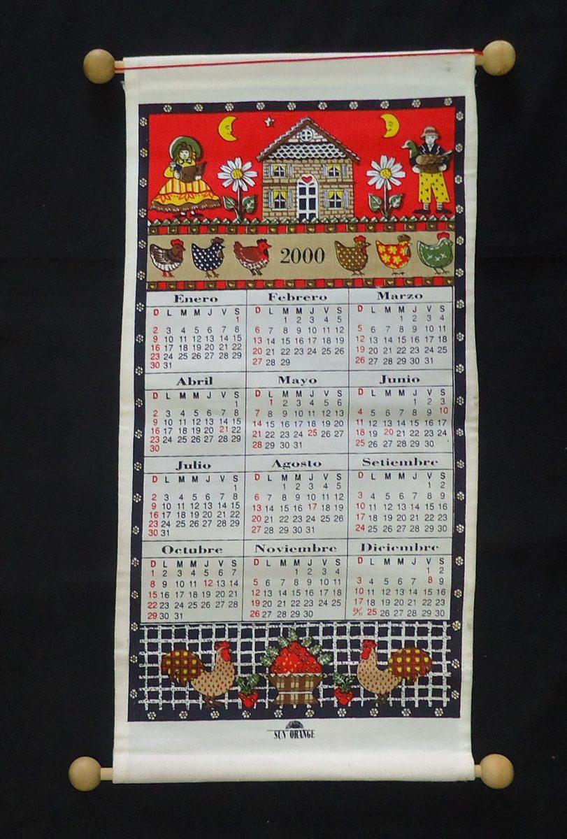 Calendario Julio Del 2000.Almanaque Calendario De Tela Para Colgar 2000 75 00