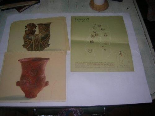 almanaque calendario pirelli 1963 culturas agroalfareras