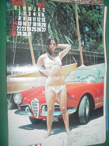 almanaque calendario poster lamina corsa marzo 1971