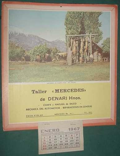 almanaque criollo 1967 taller mercedes matadero pampa linda
