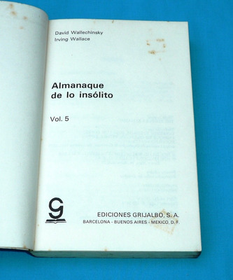 almanaque de lo insólito irving wallace lenguaje artes letra