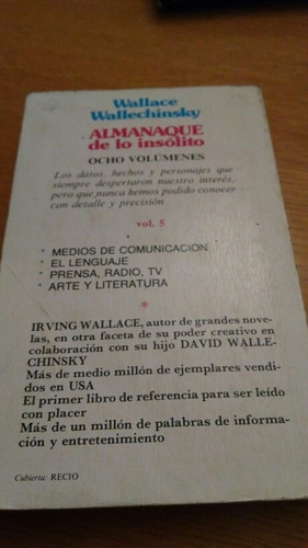 almanaque de lo insólito - irving wallace wallechinsky