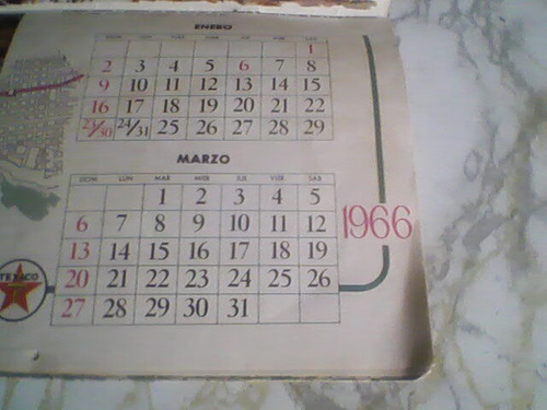 almanaque de texaco de 1966