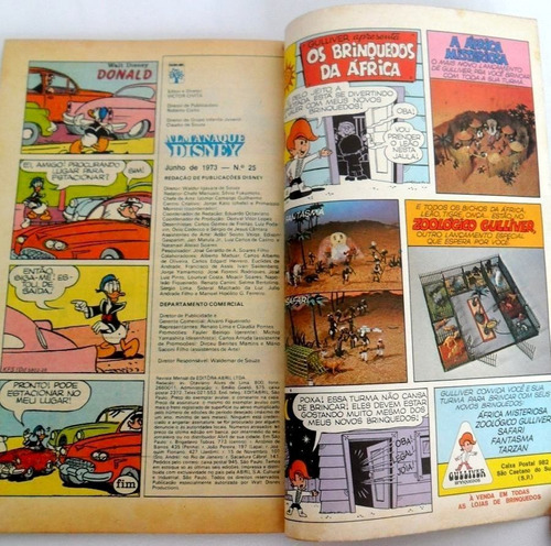 almanaque disney n° 25 ano 1973 tio patinhas zorro e pato