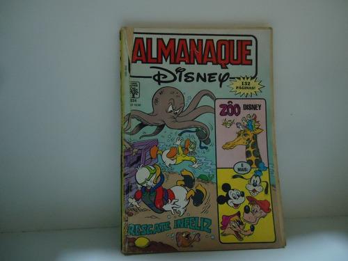 almanaque disney - nº224 - ed.abril-  janeiro 90