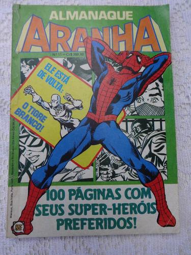 almanaque do aranha nº 11 - a ameaça do carniça - rge - 1982
