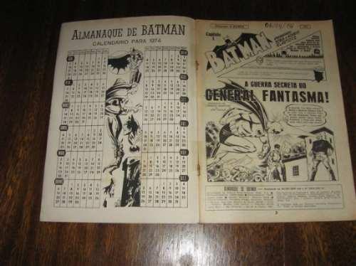 almanaque do batman ano: 1974 editora ebal com 100 páginas