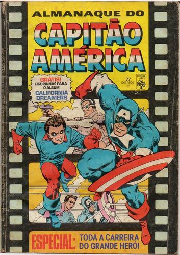 almanaque do capitão américa - 1985