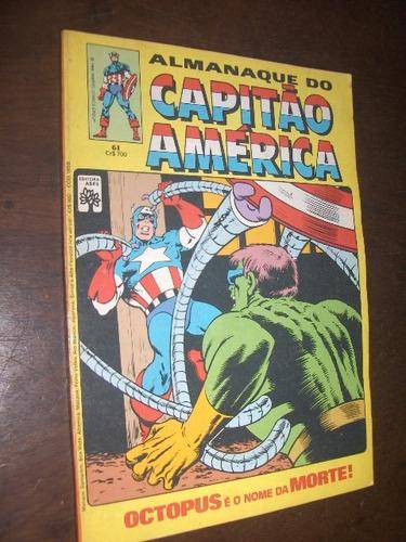 almanaque do capitão america n 61 de 1984