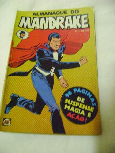 almanaque do mandrake nº1 junho 1979 rge ótimo e raro!