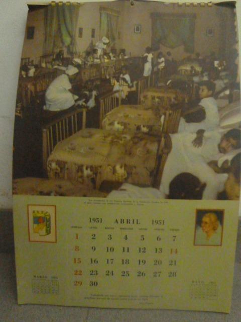 Calendario 1951.Almanaque Eva Peron Calendario 1951 Evita Completo 7 800 00