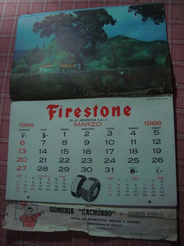 almanaque firestone año 1966 completo