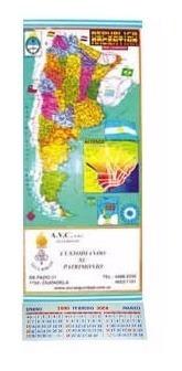 almanaque mapa con minon y su publicidad x 100unid