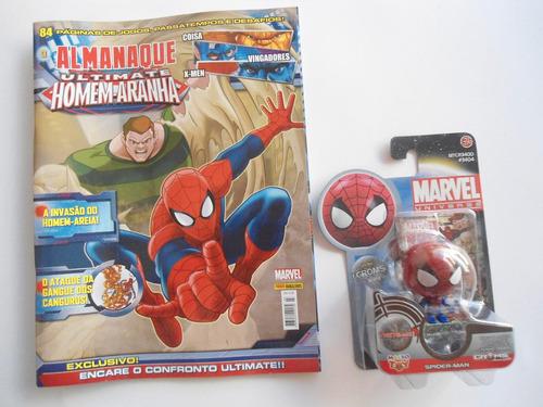 almanaque marvel 3 ultimate homem aranha + croms + card novo