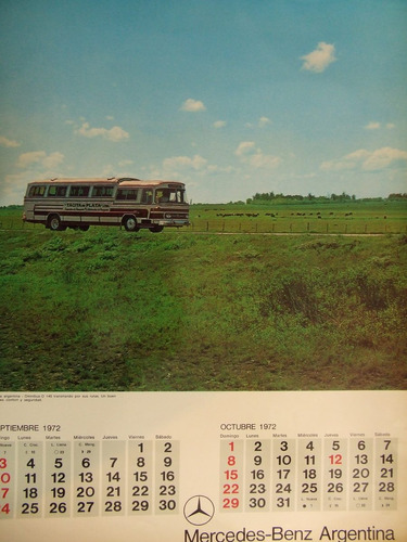 almanaque mercedes benz 1972