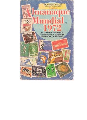 almanaque mundial 1972 - editorial américa - idioma espanhol