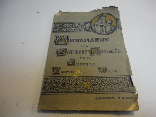 almanaque patronato nacional de la infancia chile 1924