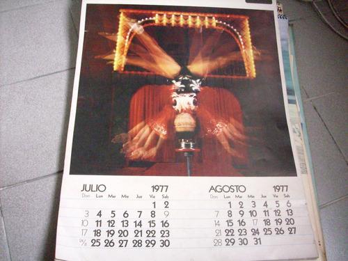 almanaque skf 1977  motivos circo