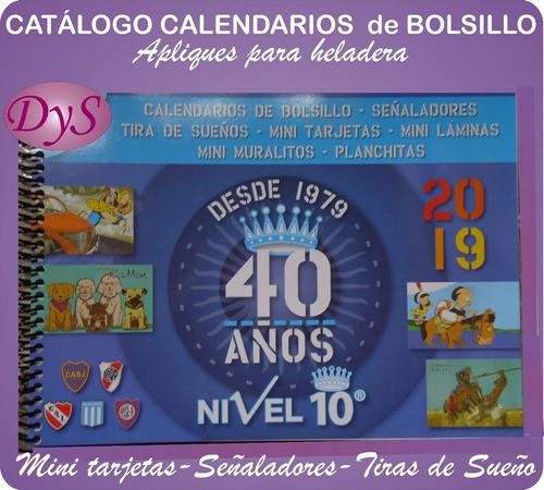 *almanaque,mignón 50x50mm. envío gratis x1800 u.v/descrip.