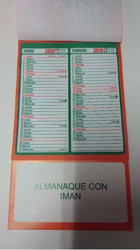 almanaques 2018