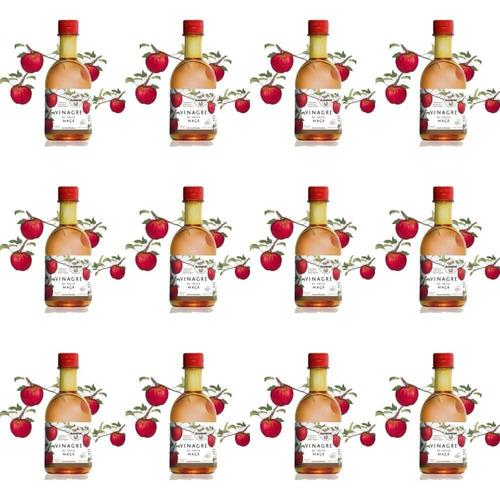 almaromi vinagre de maçã 12x400ml (kit c/12)