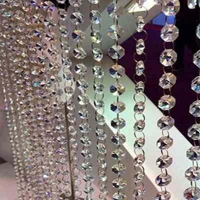 almendra 3d cristal cortado de 5 cm para candil,  cortinas